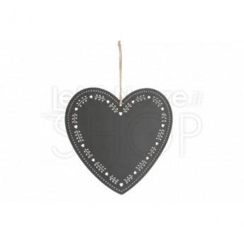 Targa in metallo a forma di cuore