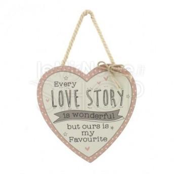 Targa in legno Vintage Love Story