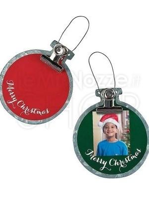 Decorazioni di Natale con foto - 12 pezzi