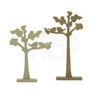 2 alberi decorativi in legno