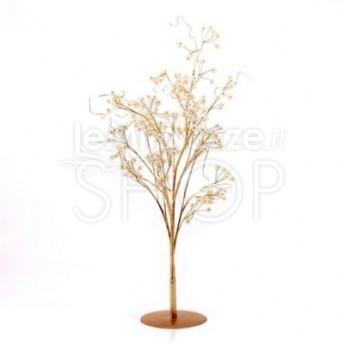 Centrotavola a forma di albero color oro con perle