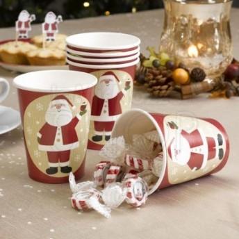 Bicchiere di carta con Babbo Natale 8 pezzi