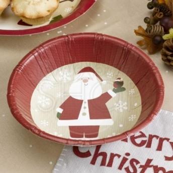 Ciotola in carta con Babbo Natale 8 pezzi