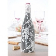 Rivestimento in pizzo per bottiglia di vino