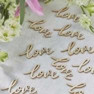 Decorazioni tavola con scritta love