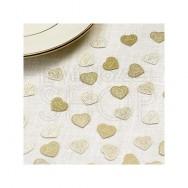 Decorazioni tavola con cuori vintage avorio e oro 10 confezioni