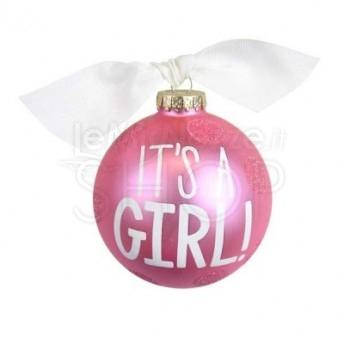 Palla di Natale nascita bambina