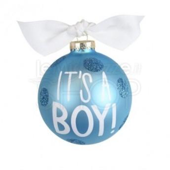 Palla di Natale nascita bambino