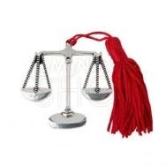 Ciondolo a forma di bilancia per laurea in Legge