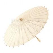 Ombrello parasole avorio in carta e bamboo