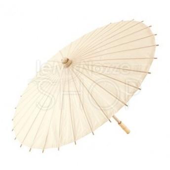 7624822ba5e1 Ombrello parasole avorio in carta e bamboo