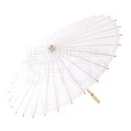 Ombrello parasole bianco in carta e bamboo