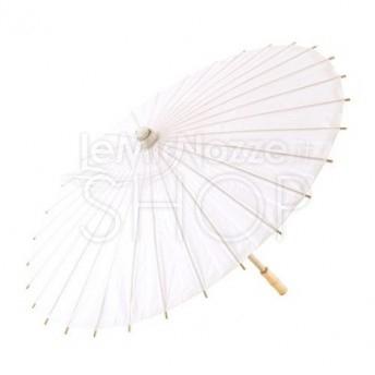 45f37bf516cb Ombrello parasole bianco in carta e bamboo
