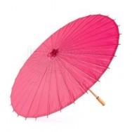 Ombrello parasole fucsia in carta e bamboo