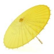 Ombrello parasole giallo limone in carta e bamboo