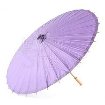 Ombrello parasole lavanda in carta e bamboo
