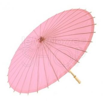 Ombrello parasole rosa antico in carta e bamboo