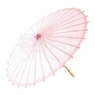 Ombrello parasole rosa vintage in carta e bamboo