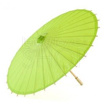Ombrello parasole verde mela in carta e bamboo