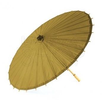 Ombrello parasole oro vintage in carta e bamboo