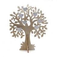 Portagioie in legno a forma di albero