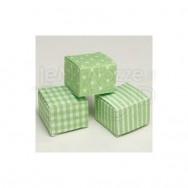 Scatola fantasia verde 24 pezzi