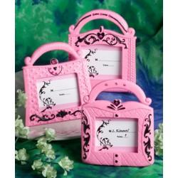 Cornice borsetta rosa