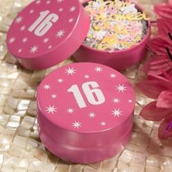 Barattolino porta caramelle con numero 16