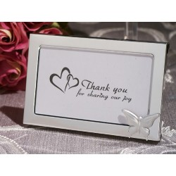 Graceful Silver Butterfly Accented Photo Frame
