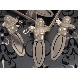 Segnalibro in metallo con cherubino giocherellone