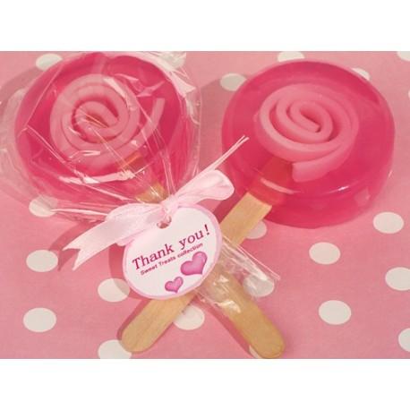 Sapone a forma di lecca lecca rosa