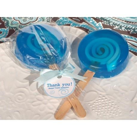 Sapone a forma di lecca lecca azzurro