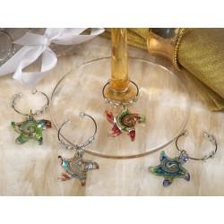 Ciondolo in vetro di Murano a forma di stella