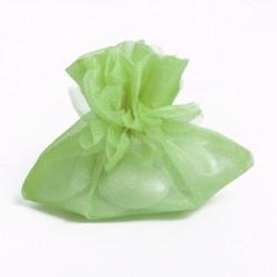 Porta confetti in organza verde limone