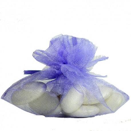 Porta confetti in organza lilla