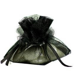 Porta confetti in organza nero