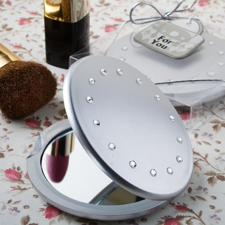 Classy Compacts Collection Compact Silver Matt Mirrors Favors