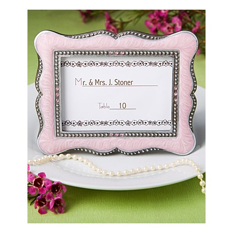 Victorian Design Frame Place Card Holders Pink