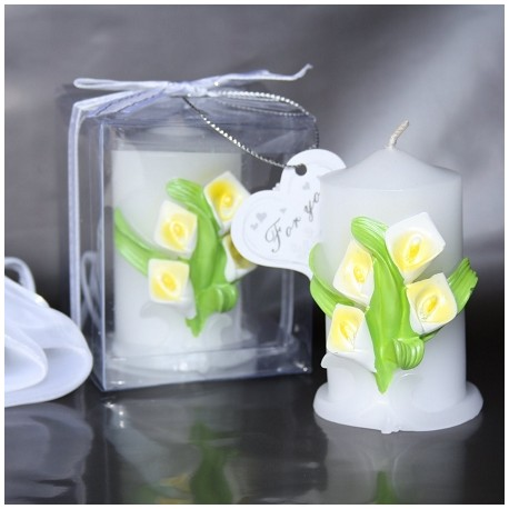 Calla Lily Pillar Candle
