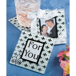 Fleur Des Design Glass Photo Coasters