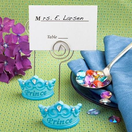 Segnaposto corona azzurra