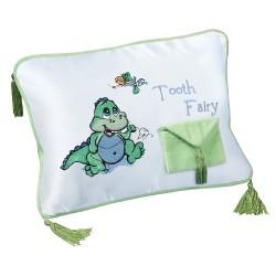 Cuscino per fatina dei denti con dinosauro