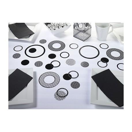 Coriandoli neri a forma di cerchio