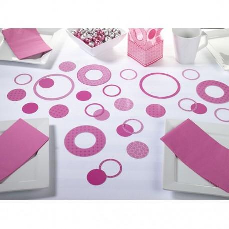 Coriandoli rosa a forma di cerchio