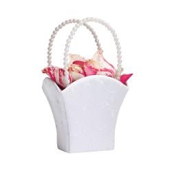 Elegante cesto di fiori bianco da matrimonio