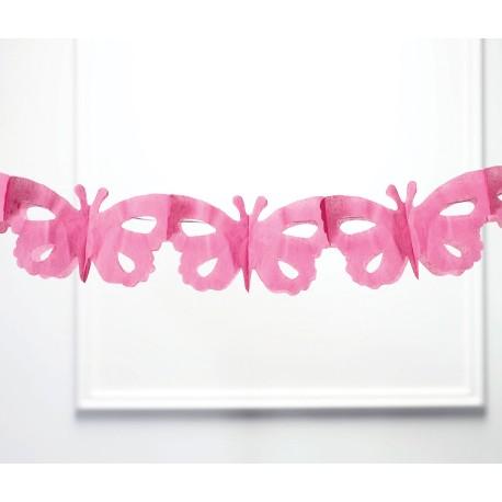 Set di decorazioni rosa a forma di farfalla 2 pezzi