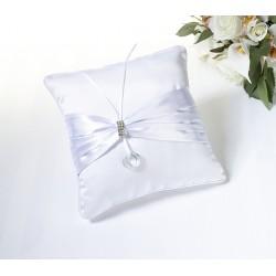 Cuscino bianco con strass