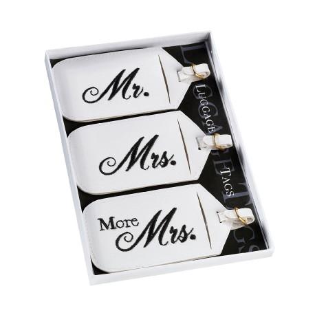 Etichette per valigia con scritta Mr o Mrs 3 pezzi