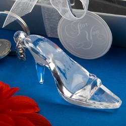 Cinderella Shoe Glass Slipper Key Chain Keyring Favour
