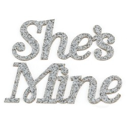 Sticker glitterati She's Mine